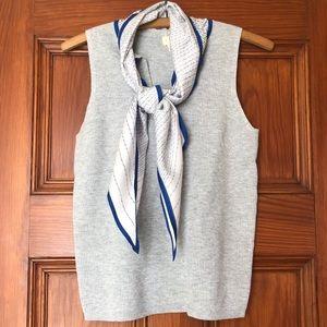 Anthro Moth Tie Neck Sleeveless Sweater Top